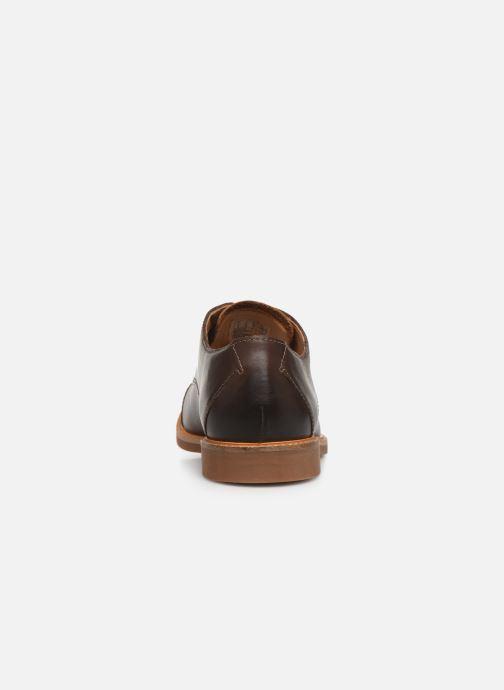Chaussures à lacets Clarks Atticus Cap Marron vue droite