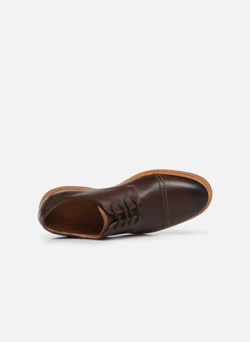 Chaussures à lacets Clarks Atticus Cap Marron vue gauche