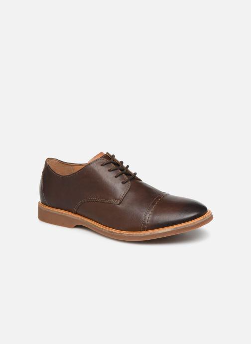 Snøresko Clarks Atticus Cap Brun detaljeret billede af skoene