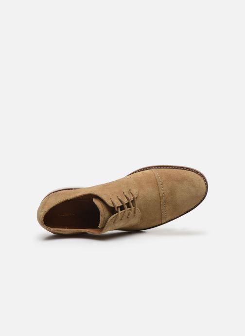 Zapatos con cordones Clarks Atticus Cap Marrón vista lateral izquierda