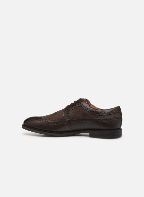 Chaussures à lacets Clarks Ronnie Limit Marron vue face