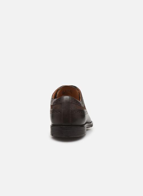 Chaussures à lacets Clarks Ronnie Limit Marron vue droite