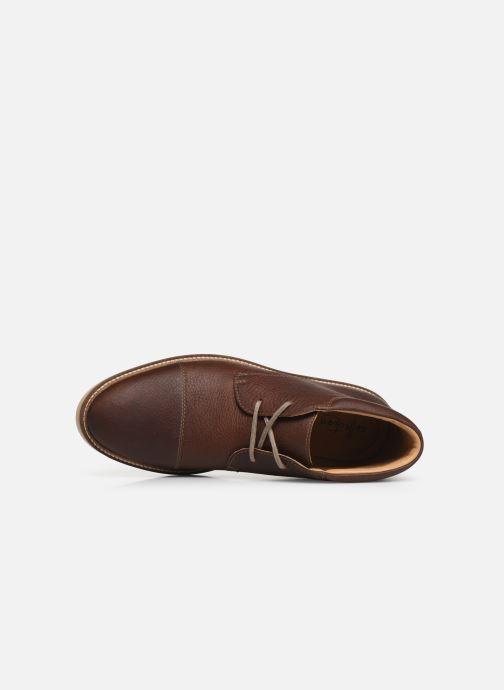 Bottines et boots Clarks Grandin Top Marron vue gauche