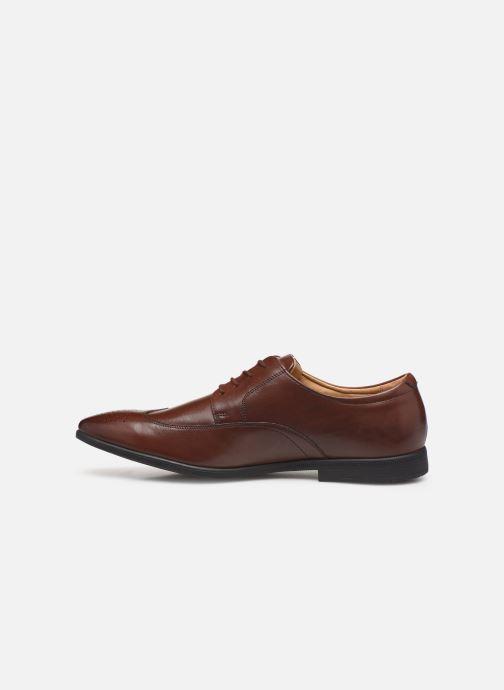 Chaussures à lacets Clarks Bampton Wing Marron vue face