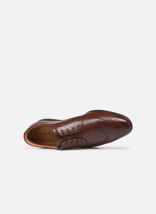 Chaussures à lacets Clarks Bampton Wing Marron vue gauche