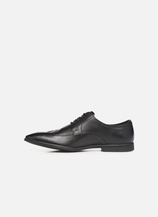 Lace-up shoes Clarks Bampton Wing Black front view
