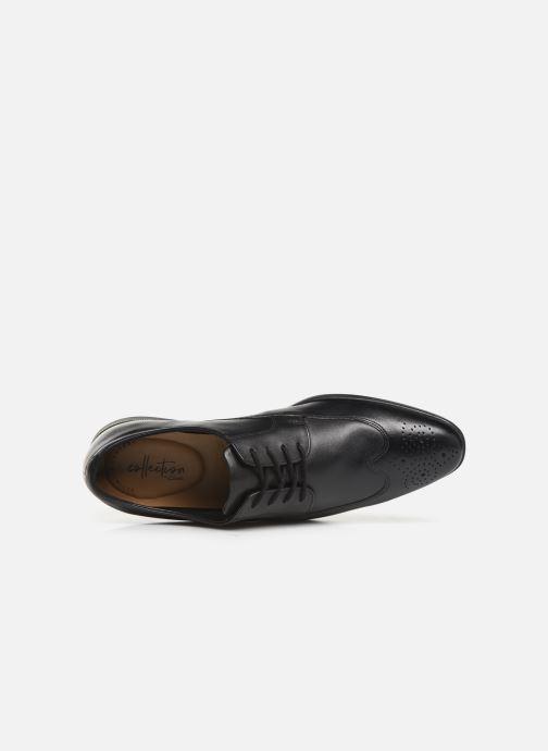 Chaussures à lacets Clarks Bampton Wing Noir vue gauche