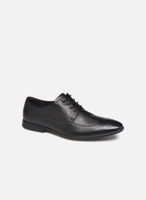 Lace-up shoes Clarks Bampton Wing Black detailed view/ Pair view
