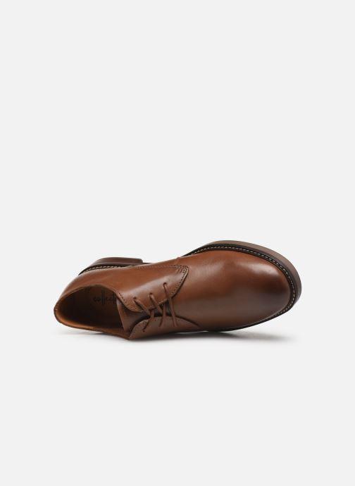 Chaussures à lacets Clarks Paulson Plain Marron vue gauche