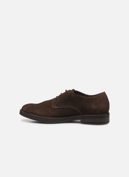 Chaussures à lacets Clarks Paulson Plain Marron vue face