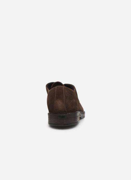 Chaussures à lacets Clarks Paulson Plain Marron vue droite