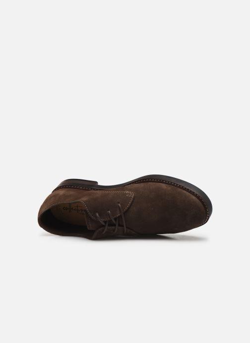 Zapatos con cordones Clarks Paulson Plain Marrón vista lateral izquierda