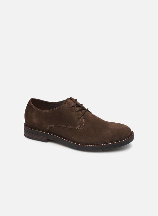 Snøresko Clarks Paulson Plain Brun detaljeret billede af skoene