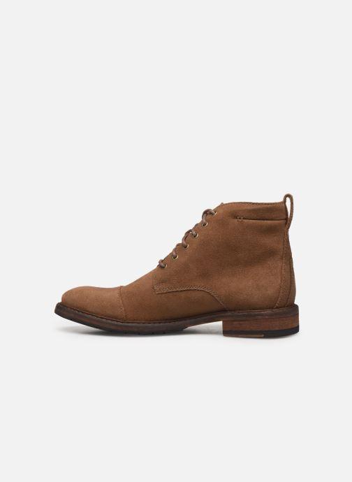 Boots en enkellaarsjes Clarks Clarkdale Hill Bruin voorkant