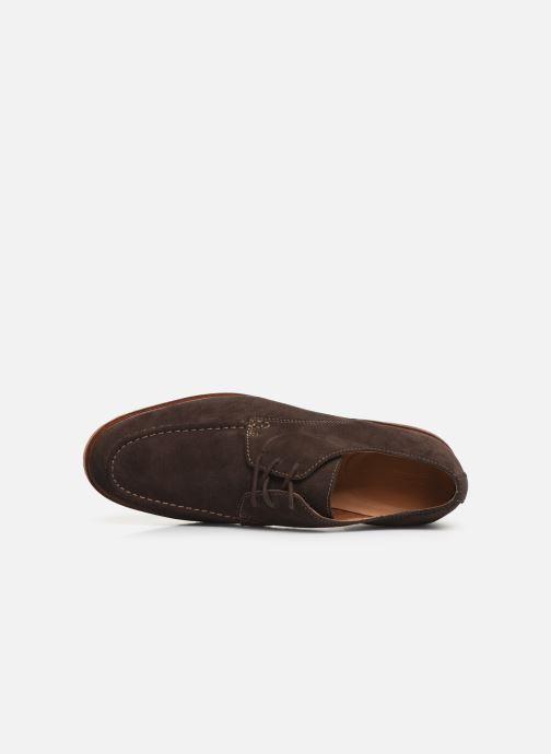 Chaussures à lacets Clarks ClarkdaleApron Marron vue gauche