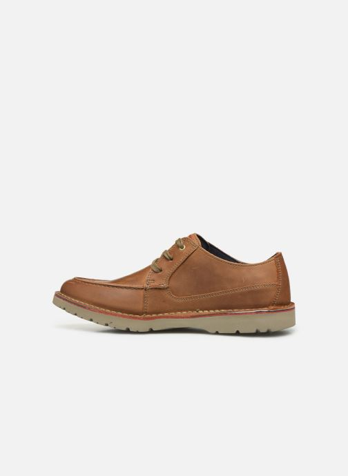 Lace-up shoes Clarks Vargo Vibe Brown front view