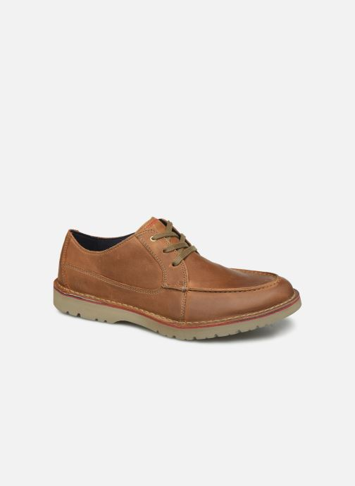 Lace-up shoes Clarks Vargo Vibe Brown detailed view/ Pair view