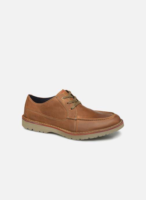 Snøresko Clarks Vargo Vibe Brun detaljeret billede af skoene