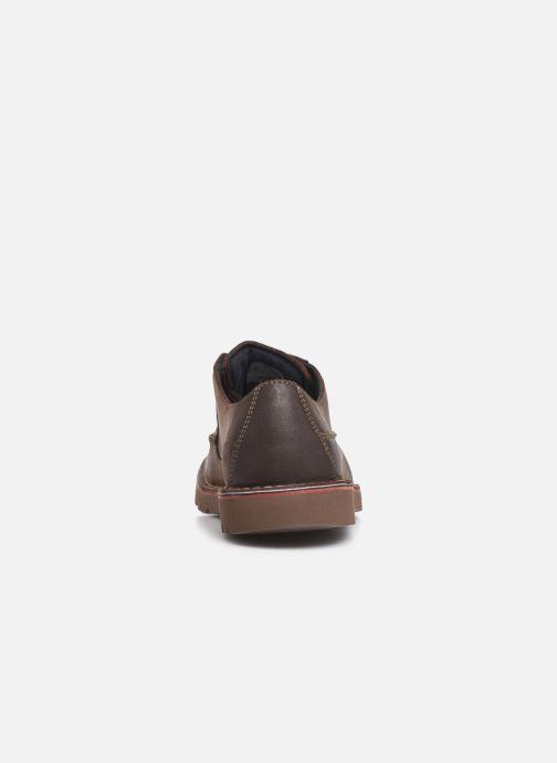 Zapatos con cordones Clarks Vargo Vibe Marrón vista lateral derecha