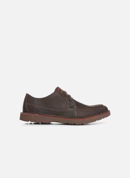 Lace-up shoes Clarks Vargo Vibe Brown back view