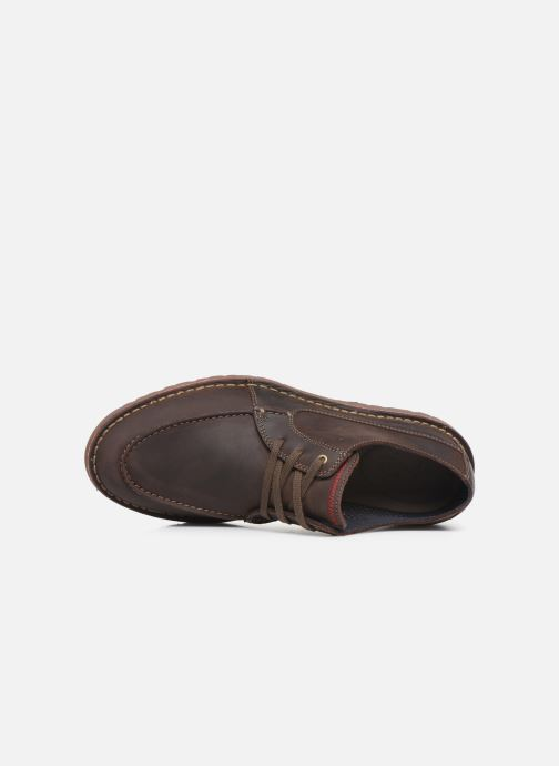 Lace-up shoes Clarks Vargo Vibe Brown view from the left