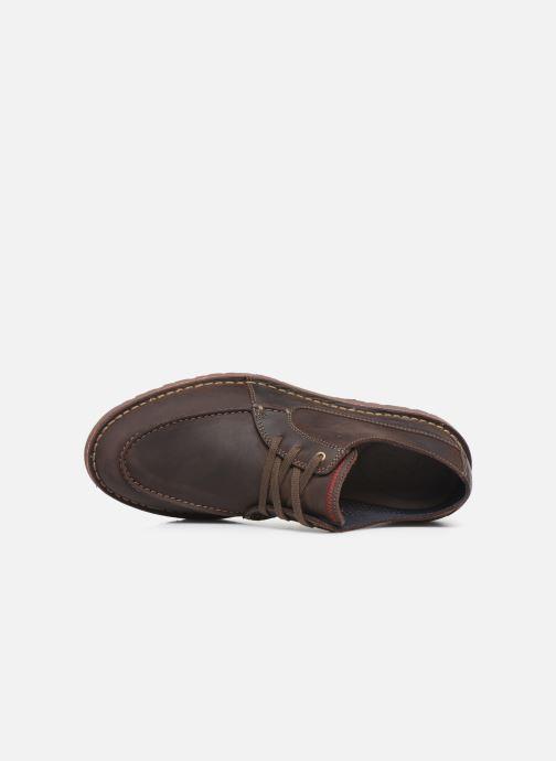 Zapatos con cordones Clarks Vargo Vibe Marrón vista lateral izquierda