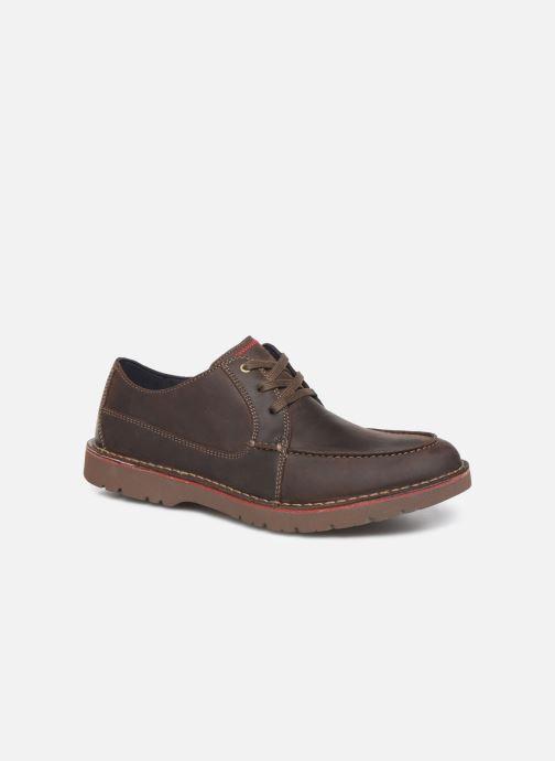 Zapatos con cordones Clarks Vargo Vibe Marrón vista de detalle / par