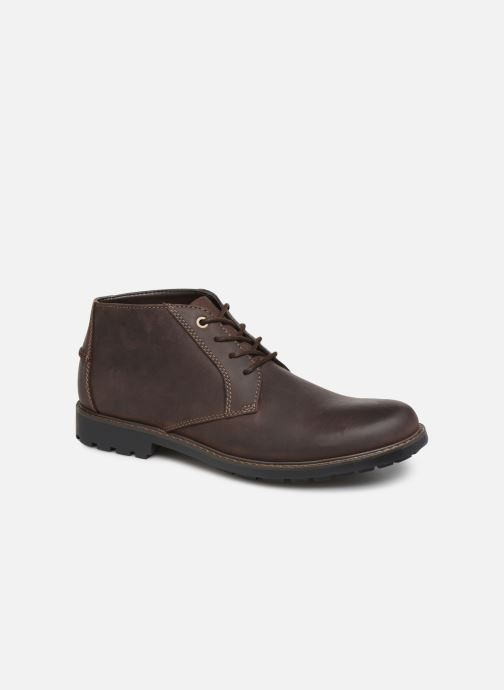 Bottines et boots Clarks Curington Over Marron vue détail/paire
