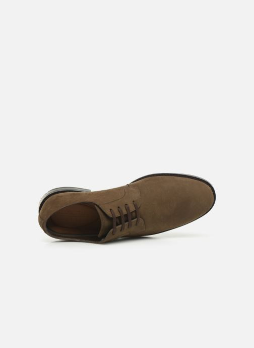 Lace-up shoes Clarks Ronnie WalkGTX Brown view from the left