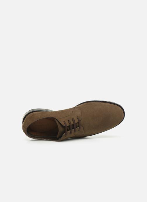 Zapatos con cordones Clarks Ronnie WalkGTX Marrón vista lateral izquierda