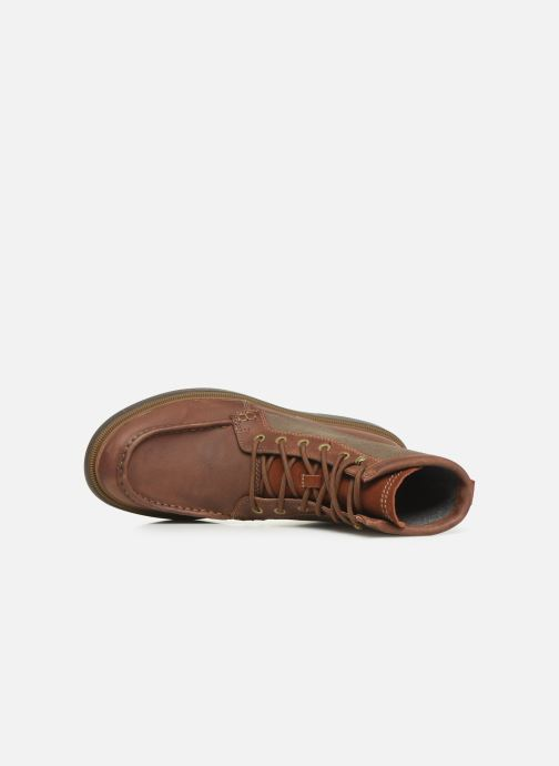 Ankle boots Clarks Dempsey Peak Brown view from the left