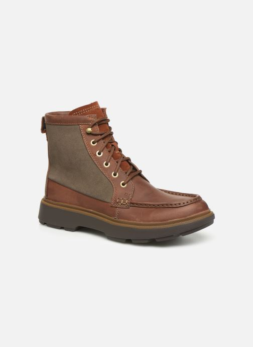 Ankle boots Clarks Dempsey Peak Brown detailed view/ Pair view