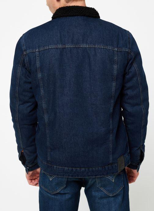 Vêtements Only & Sons Onslouis Jacket Bleu vue portées chaussures