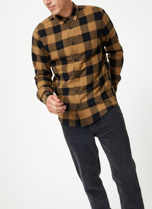 Vêtements Only & Sons Onsgudmund Shirt Marron vue droite