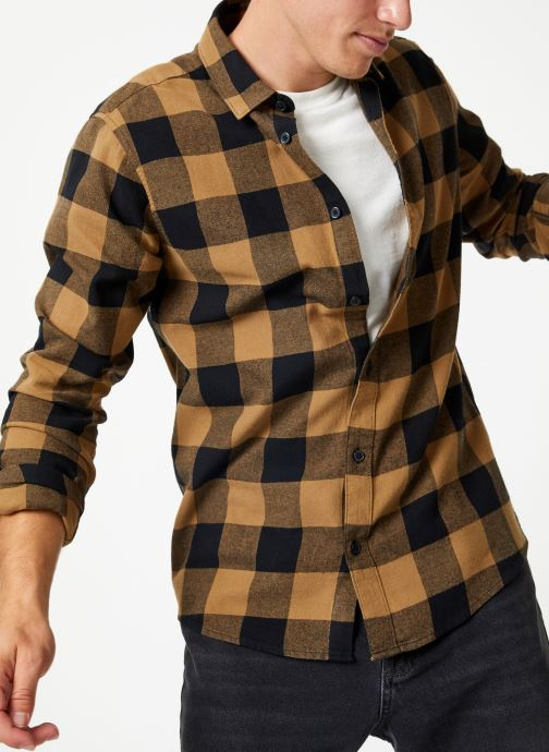 Vêtements Only & Sons Onsgudmund Shirt Marron vue détail/paire
