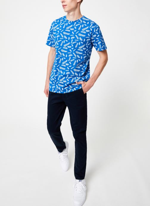 Vêtements Only & Sons Onsbeaf Aop Tee Bleu vue bas / vue portée sac