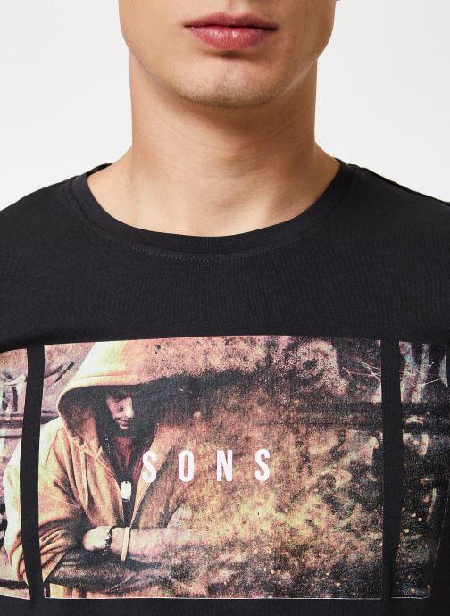 Vêtements Only & Sons Onsbernie Tee Noir vue face