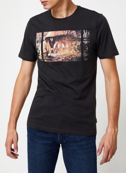 Vêtements Only & Sons Onsbernie Tee Noir vue droite