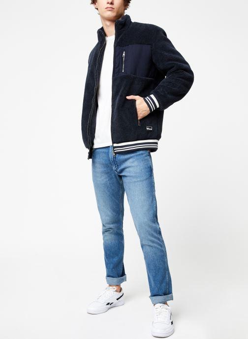 Vêtements Only & Sons Onsian Sherpa Bleu vue bas / vue portée sac