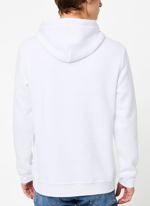 Vêtements Only & Sons Onsdamian Sweat Hoodie Blanc vue portées chaussures