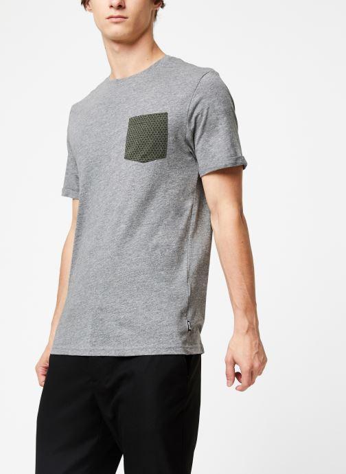 Vêtements Only & Sons Onstituz Tee Gris vue droite