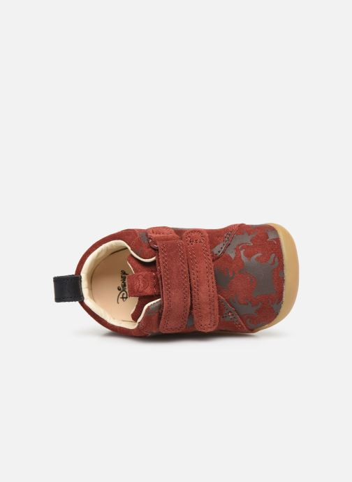 Trainers Clarks Roamer Wild x Lion King Red view from the left