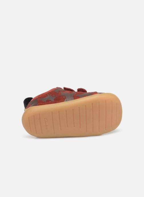 Trainers Clarks Roamer Wild x Lion King Red view from above