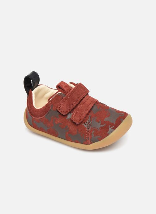 Baskets Clarks Roamer Wild x Lion King Rouge vue détail/paire