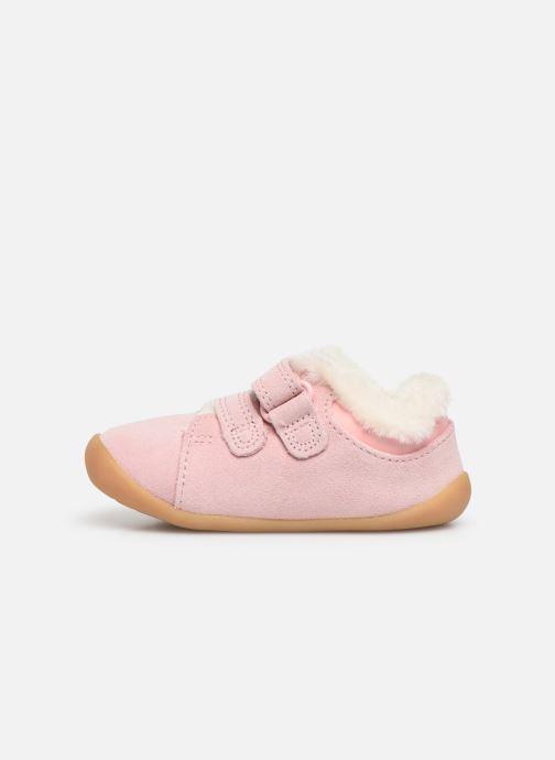 Zapatos con velcro Clarks Roamer Craft T warm Rosa vista de frente