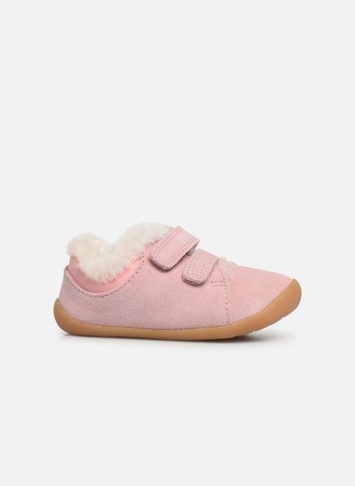 Schoenen met klitteband Clarks Roamer Craft T warm Roze achterkant