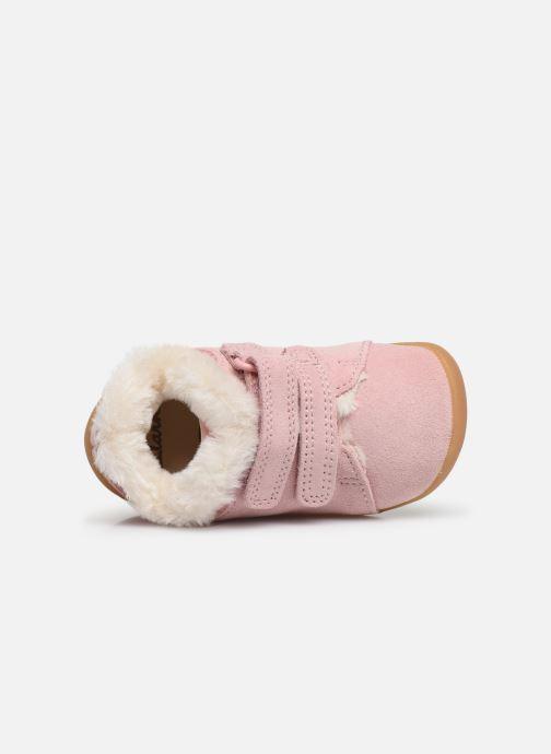 Schoenen met klitteband Clarks Roamer Craft T warm Roze links
