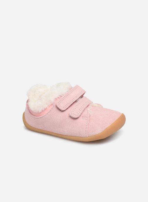 Schoenen met klitteband Clarks Roamer Craft T warm Roze detail