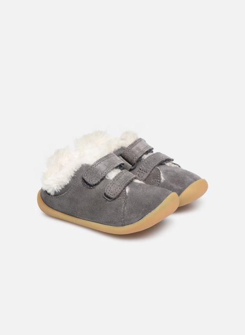 Schoenen met klitteband Clarks Roamer Craft T warm Grijs 3/4'