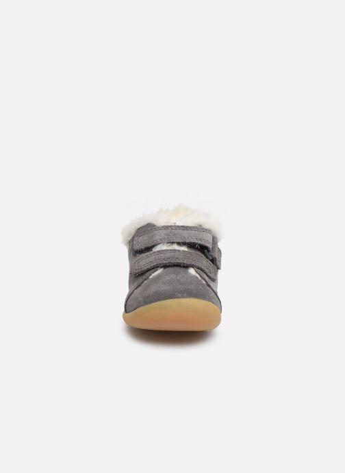 Schoenen met klitteband Clarks Roamer Craft T warm Grijs model